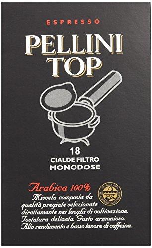 Pellini Caffè, Espresso Pellini Top Arabica 100%, Cialde Monodose, 6 Confezioni da 18 Cialde Monodose, 108 Cialde