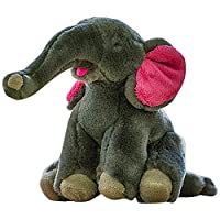 Fluff and Tuff Edsel the Elephant Durable Plush Dog Toy