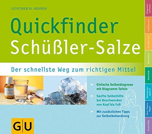 Preisvergleich Produktbild Schüßler-Salze, Quickfinder (GU Quickfinder Körper, Geist & Seele)