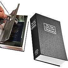 Diccionario–Caja fuerte con llave de bloqueo de bloqueo Handsome–Seguridad para el hogar y 2llaves incluidas, acero interior-black-small