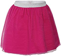 FS Mini Klub Girls Regular Fit Skirt (88KGBSK0366 PINK 1_5 - 6 Years, Pink, 5 - 6 Years)