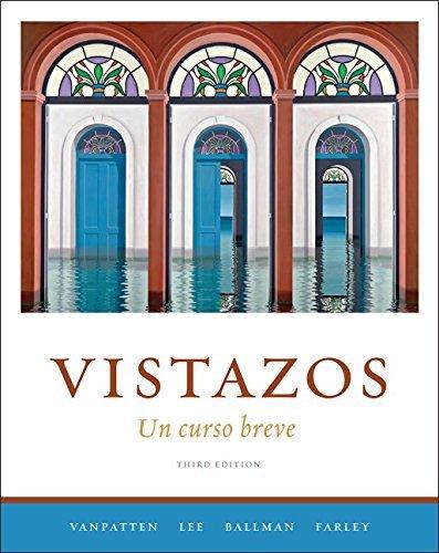 Vistazos: Un curso breve by Bill VanPatten (2009-01-15)