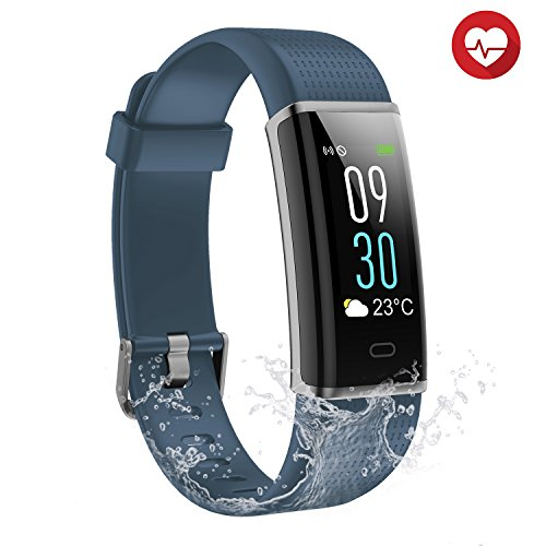 Semaco Fitness Armband mit Pulsmesser, Wasserdicht IP68 Fitness Tracker Farbdisplay Aktivitätstracker Armbanduhr