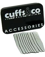 Cuffs & Co Kragenstäbchen-Set aus Metall, 10 Stück