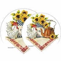 Reston Lloyd Rooster & Copper Kettle Burner Cover s Set of 4