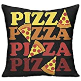 DEFFWB Lyle Clegg Pizza Durable Cotton Cushion Square Decorative Throw Pillows Filling Stuffing Linen Chair Cushion Insert Filler for Sofa inch
