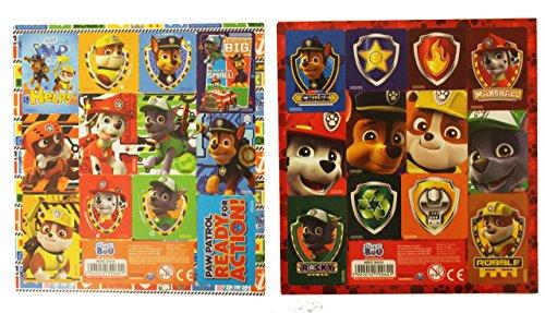 Preisvergleich Produktbild 10 Bogen Set Paw Patrol 12er Stickerbogen Sticker Mitgebsel (für Jungs)