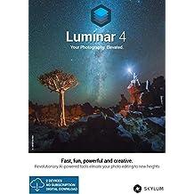 Luminar 4 Vollversion, 1 Benutzer Lizenz für 2 Geräte, Windows / MAC, Aktivierungscode per Post, inkl. Installationsanleitung, professionelle Bildbearbeitung, automatische Sky Replacement Technologie