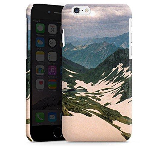 Apple iPhone 4 Housse Étui Silicone Coque Protection Montagnes Neige Paysage Cas Premium brillant