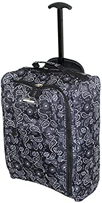 Hand Luggage Cabin Bag Trolley with Wheels Flight Bags Suit Case for Easyjet, Ryanair, British Airways, Virgin, FlyBe, Jet 2 and Many others Airlines or Travel …