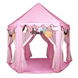 Kids Princess Castle Play House - LEKESI Play Tent With 100 LED Lights USB Powered For Outdoor & Indoor