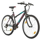 BIKE SPORT LIVE ACTIVE 26 Zoll Bikesport Adventure Mädchenfahrrad Damen Fahrrad Mountainbike, Shimano 18 Gang (Schwarz matt)