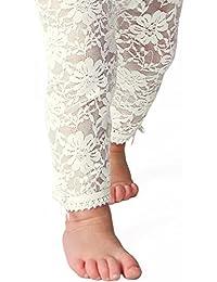 Baby Emporio - Baby- Spitze Leggings - Satinschleifen an den Knöcheln - Geschenk-Beutel