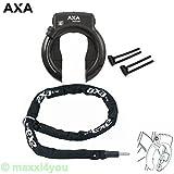01200108-1-Ko-2 AXA Defender Art Rahmenschloss mit Axa Kette RLC140 + Axa-Flex, Hinterbau, Schwarz