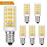 Albrillo 4.5W / 400LM E14 LED Glühlampe Warmweiß 3000K mit 64 SMD LEDs, 50W Halogenlampen Ersatz, 5er Pack