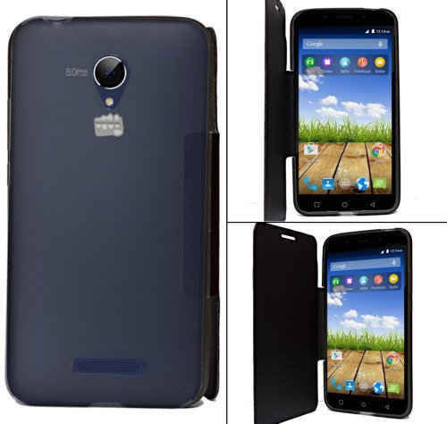 Micromax Canvas Doodle 4 Q391 Premium Flip Cover Diary Folio Flap Case Cover - Black  available at amazon for Rs.184