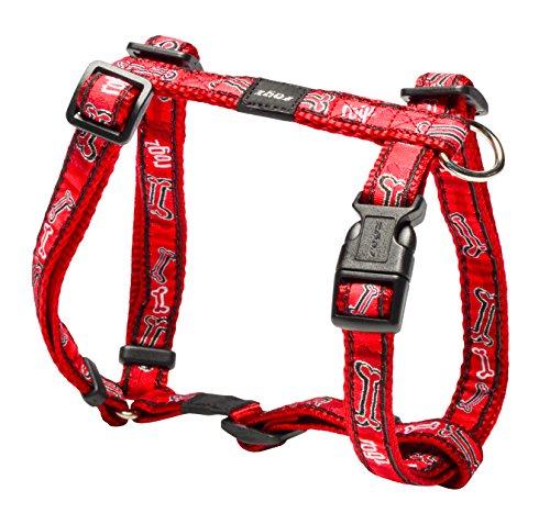 rogz-comic-scooter-verstellbare-hundeleine-h-harness-mit-rot-knochen-design-mittel-multicolor