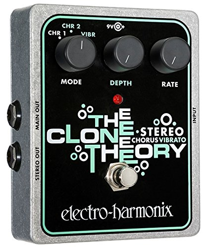 ELECTRO HARMONIX STEREO CLONE THEORY STEREO CLONE THEORY PEDAL  COLOR PLATEADO