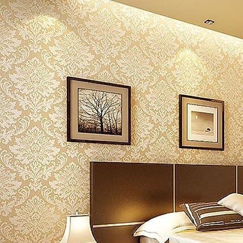BTJC Salón continental cabecera cálido dormitorio tridimensional que hace espuma la congregación espolvoreado fondo de pantalla wallpaper de Jin Mibai no tejido , 9903 meters
