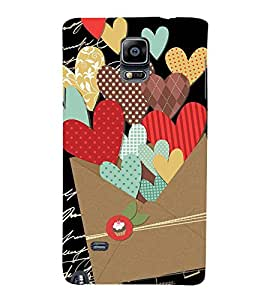 Fabcase black love letter heart shape Designer Back Case Cover for Samsung Galaxy Note 4 :: Samsung Galaxy Note 4 N910G :: Samsung Galaxy Note 4 N910F N910K/N910L/N910S N910C N910Fd N910Fq N910H N910G N910U N910W8