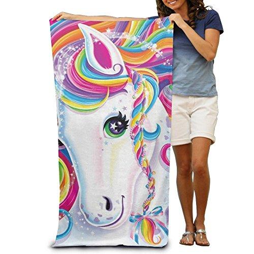 Lilyna unicorno da donna da uomo personalizzata altamente assorbente asciugamano morbido telo mare 78,7x 129,5cm