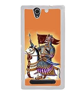 PrintVisa Veer Yodha Mewar High Glossy Metal Designer Back Case Cover for Sony Xperia C4 Dual :: Sony Xperia C4 Dual E5333 E5343 E5363