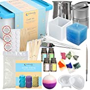 Candle Making Kit – Wax and Accessory DIY Set for The Making of Scented Candles - Easy to Make Colored Candle