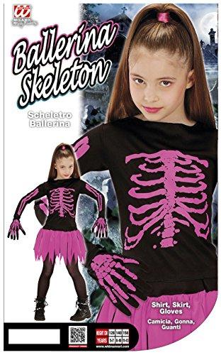 Imagen de widmann 00217  niño disfraz esqueleto de la bailarina, camisa, falda y guantes, tamaño 140 alternativa