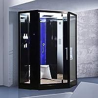 Duschkabine PS-600TY  Dusche Regendusche Duschtempel Fertigdusche Weiß NEU