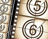 JP London we5a0178.5-feet, 10.5-feet Breite Cinema Noir Retro Filmstreifen abnehmbarer Full Wall Mural