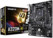 GIGABYTE A320, AM4 Socket Ultra Durable Motherboard with Fast Onboard Storage with NVMe,PCIe Gen3 x4 110mm M.2