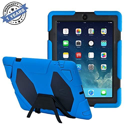 iPad 2/3/4Fall, kidspr iPad Fall * Neu * * Hot * Super Schützen [stoßfest] [Regendicht] [sanddicht] mit Integriertem Displayschutz für Apple iPad 2/3/4(Army/Grün) Dunkelblau/Schwarz iPad 2/3/4 Case (Ipad Apple Blue 2-case)
