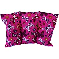 """Cuscino termico """"Farfalle - rose"""" - 26 x 16 cm (M / L) - pieno di noccioli di ciliegia 330gr - effetto freddo/caldo . saco termiche"""