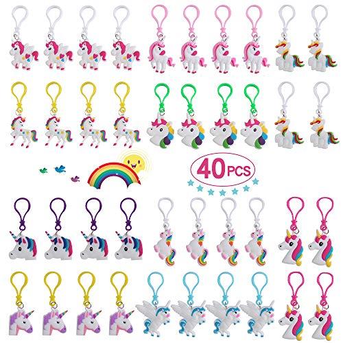 Yunfan Keyring Unicornio Surtido 40 Piezas Rainbow