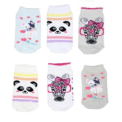TupTam Unisex Kinder Socken Bunt Gemustert 6er Pack, Farbe: Kurzsocken Mädchen, Größe: 23-26