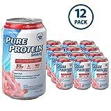 Pure Protein 325 ml Shake - 35 g of Protein - 12 RTD (Strawberry Cream)