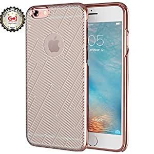 Rock Iphone 6s iPhone 6 Bling PC Case Luxury Meteor Pattern Protector Back Case Cover (Grey)