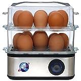 Prime Quality Electric Egg Boiler for 16 Eggs with Steamer, Poacher, Cooker, Vegetable