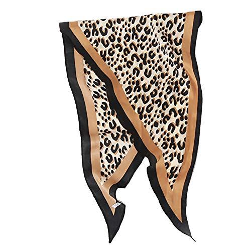 Lenfesh Fular leopardo Mujer Bufanda Otoño Suave