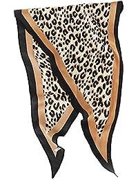Lenfesh Fular leopardo Mujer Bufanda de Otoño Suave Multifuncional Pañuelos Bandana Fulares de Invierno