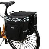 DCCN Sacoche pour Arrière de Vélo Porte-bagages Sac de Rangement arrière de Transport Vélo du Siège Sac Résistant à l'eau TRES TRES BONNE Qualité