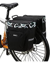 DCCN Alforja para bicicleta trasera bicicleta trasera para bicicleta de equipaje grandes rack impermeable Asiento Trasero Bolsa de transporte verde militar 30L con alta calidad