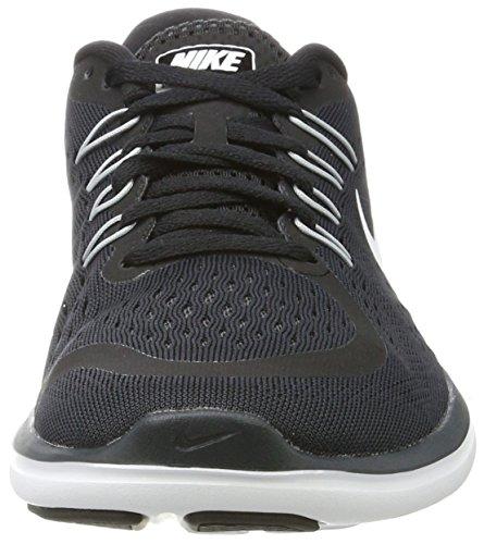 Nike Womens Flex 2017 Rn Scarpe Da Corsa Nere (nero / Bianco-antracite-lupo Grigio)