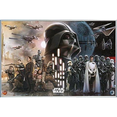 Star Wars Poster Stampa e Cornice (Plastica) - Rogue One, Ribelli Vs L'Impero (91 x 61cm) - Ribelli Acrilico