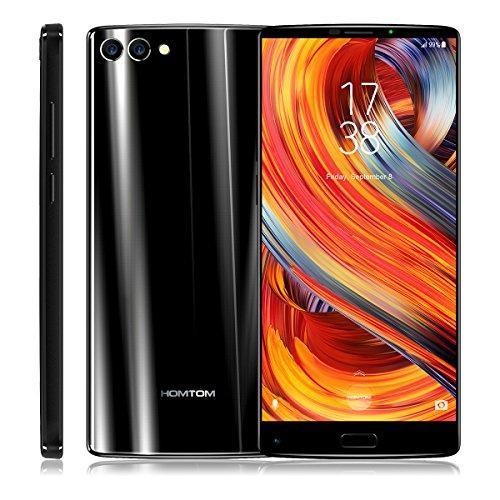 HOMTOM S9 Plus - 4G Smartphone, Android 7.0, Handy ohne Vertrag, 5.99 Zoll, MT6750T 1.5GHz Octa-Core, 4GB RAM 64GB ROM, 4050mAh, Fingerprintsensor ID, Frontkamera+Dual Back-Kamera, Dual SIM (Schwarz)