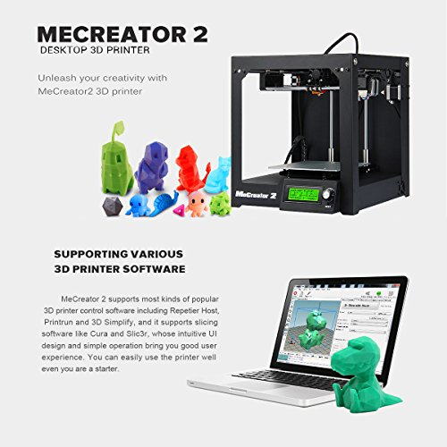 Great Buy for WER Assembled MeCreator 2 Desktop 3D Printer sopport .STL 3ds obj amf dae G-code File format Review