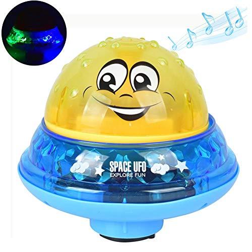 cheerfulus Kinder elektrische wasserstrahl Ball Spielzeug mit licht und Musik Spielzeug Bad spaß wasserbad Spielzeug für Kleinkinder Kleinkinder Jungen mädchen (Jungen Licht-bad-spielzeug-für)