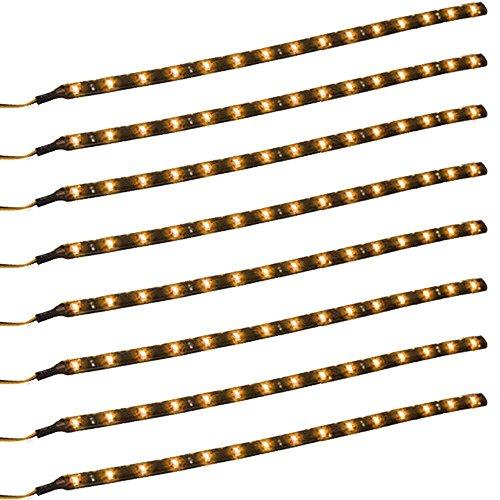 Qiorange 8 X 30cm 15 LED Wasserdicht LED Lichtleiste Balken SMD LED String LED Streifen Leiste 12V Gelb Gelb 12