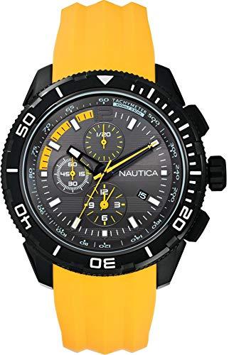 Nautica Herren Chronograph Quarz Uhr mit Silikon Armband A19629G