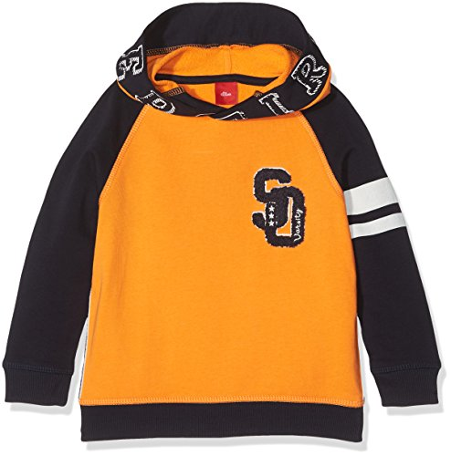 s.Oliver Jungen Sweatshirt 63.709.41.3204, Orange (Light Orange 2316), 116 (Herstellergröße: 116/122)